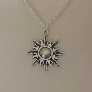 Silver Plated Sun Necklace
